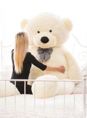 Velký plyšový medvěd 300 cm - BÍLÝ