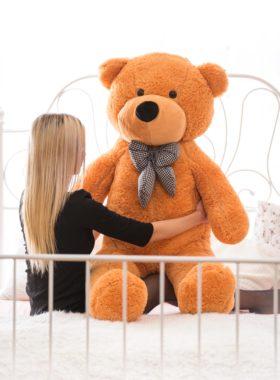 Velký plyšový medvěd 160 cm - SVĚTLE HNĚDÝ