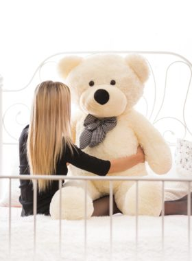 Velký plyšový medvěd 160 cm - BÍLÝ