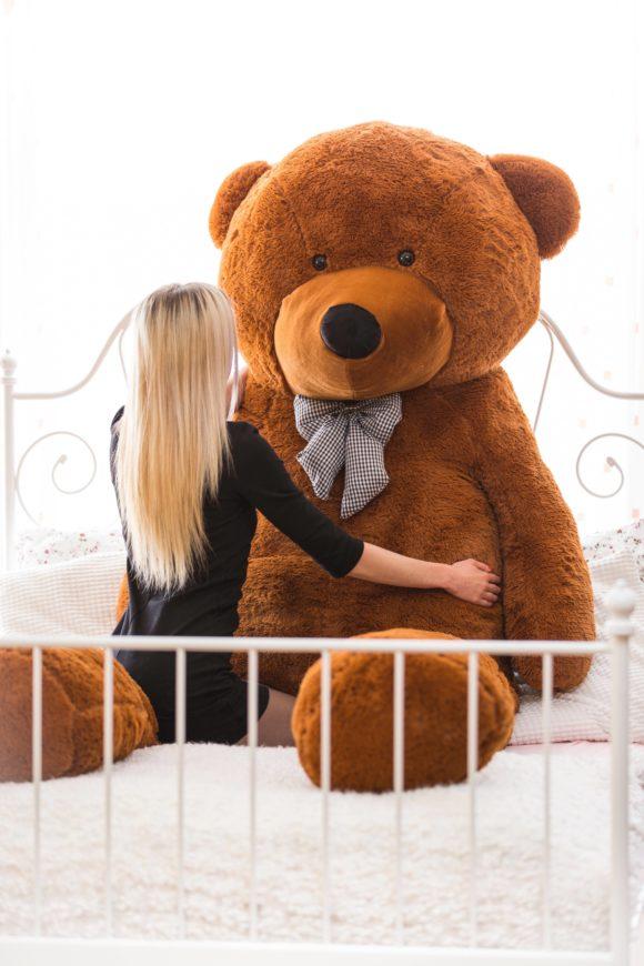 Velký plyšový medvěd 300 cm - TMAVĚ HNĚDÝ