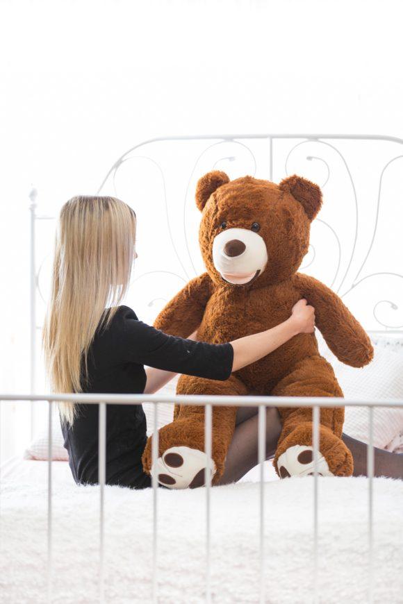 Plyšový medvěd 100cm USA (tmavě hnědý)