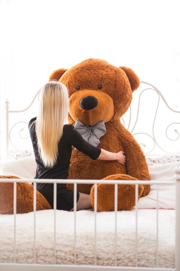 Velký plyšový medvěd 230 cm - TMAVĚ HNĚDÝ