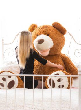 Velký plyšový medvěd 200 cm USA TMAVĚ HNĚDÝ