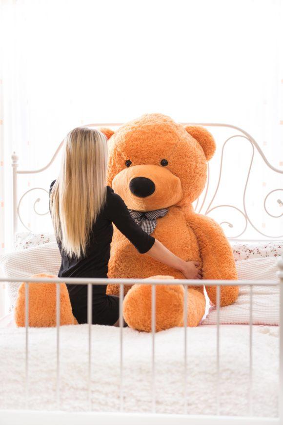 Velký plyšový medvěd 200 cm - SVĚTLE HNĚDÝ