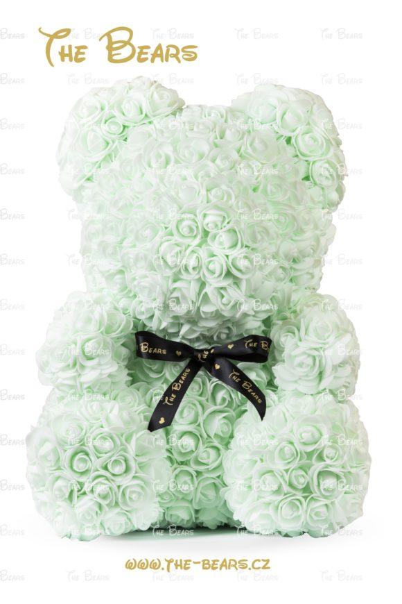 Medvěd z růží 40cm - světle zelený