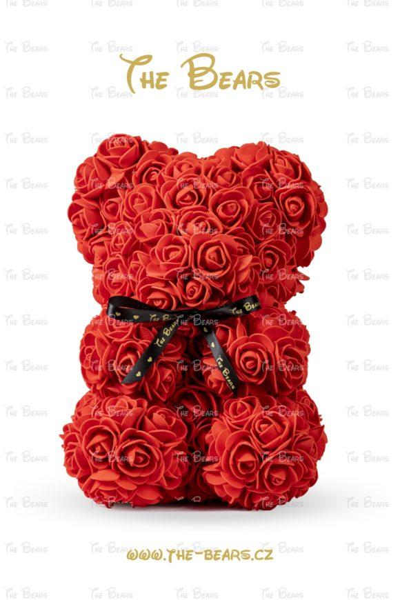 Medvěd z růží 25cm - červený