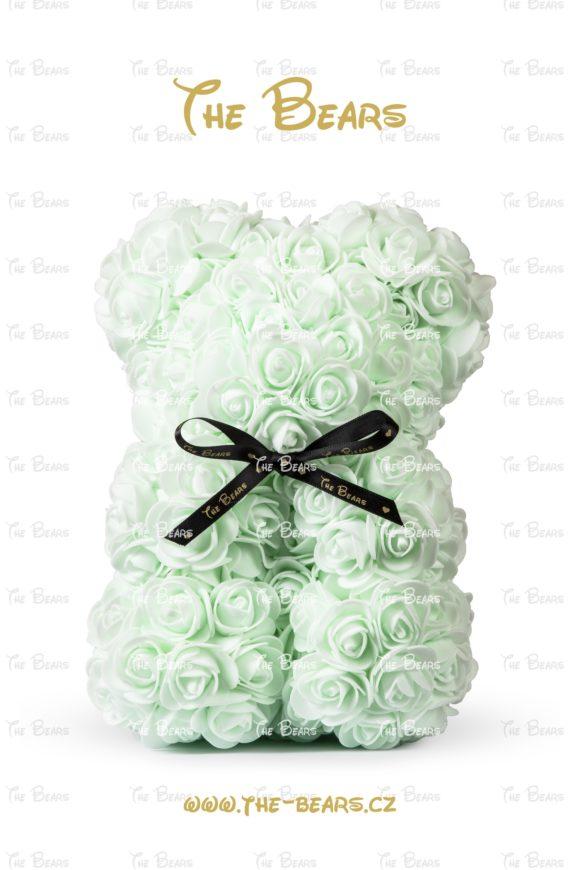Medvěd z růží 25cm - světle zelený