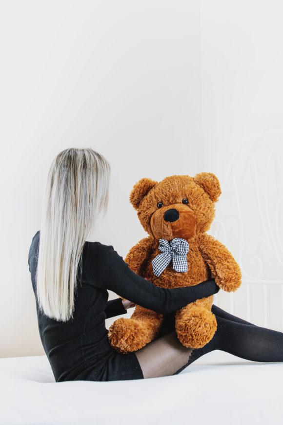 Plyšový medvěd 60cm - TMAVĚ HNĚDÝ