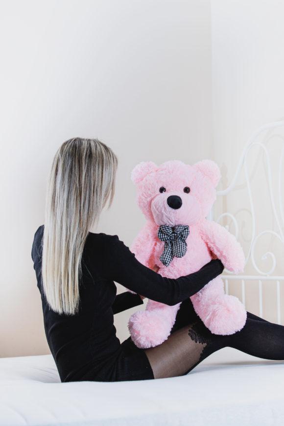 Plyšový medvěd 60cm – RŮŽOVÝ