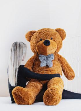 Velký plyšový medvěd 160cm – TMAVĚ HNĚDÝ