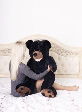Plyšový medvěd 100cm USA (černý)