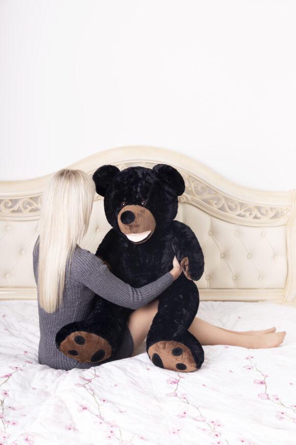 Plyšový medvěd 100 cm USA (černý)