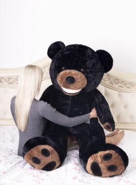 Plyšový medvěd 160cm USA (černý)