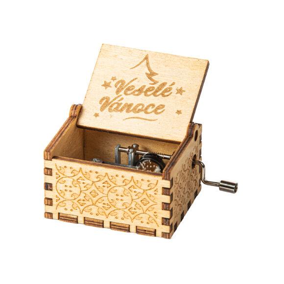 Hrací skříňka Veselé Vánoce (rolničky)