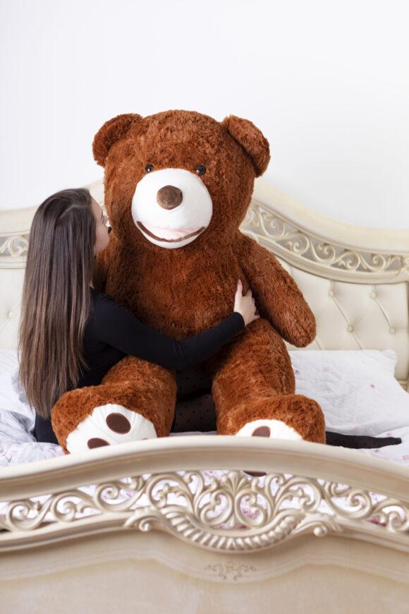 Plyšový medvěd 160 cm USA TMAVĚ HNĚDÝ