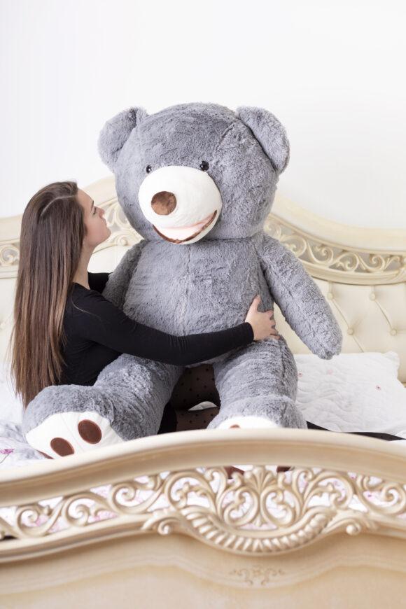 Plyšový medvěd 160 cm USA ŠEDÝ